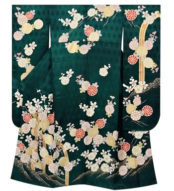 京都夢館緑振袖