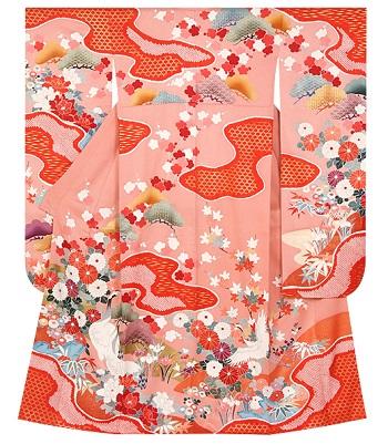 京都夢館ピンク振袖